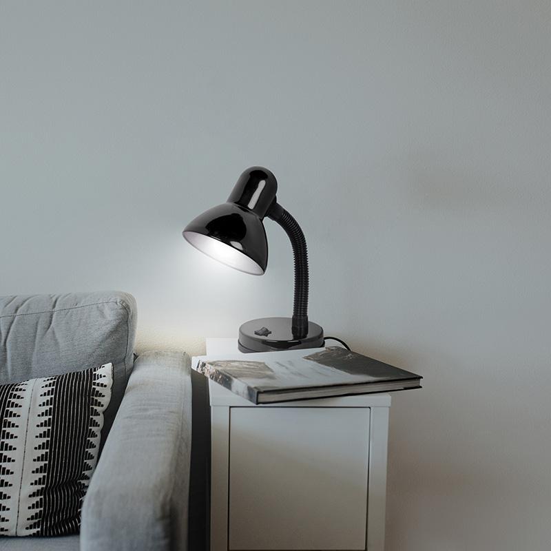 Светильник настольный REXANT Форте на основании, с цоколем Е27, 60 Вт, цвет черный
