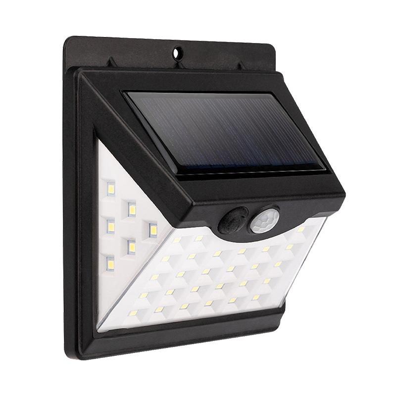 Светильник ПРОЖЕКТОР NEW AGE 3 РЕЖИМА РАБОТЫ на солнечной батарее, датчик движения плюс датчик освещенности, кнопка вкл/выкл герметичная фасадная, LED