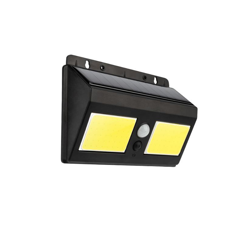 Светильник ПРОЖЕКТОР NEW AGE на солнечной батарее, датчик движения плюс датчик освещенности, кнопка вкл/выкл герметичная фасадная, LED COB монтаж на с