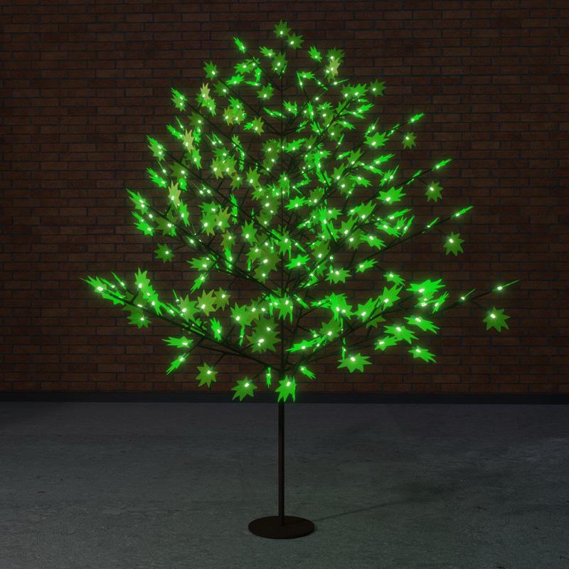 """Светодиодное дерево """"Клён"""", высота 2,1м, диаметр кроны 1,8м, зеленые светодиоды, IP 65, понижающий трансформатор в комплекте, NEON-NIGHT"""