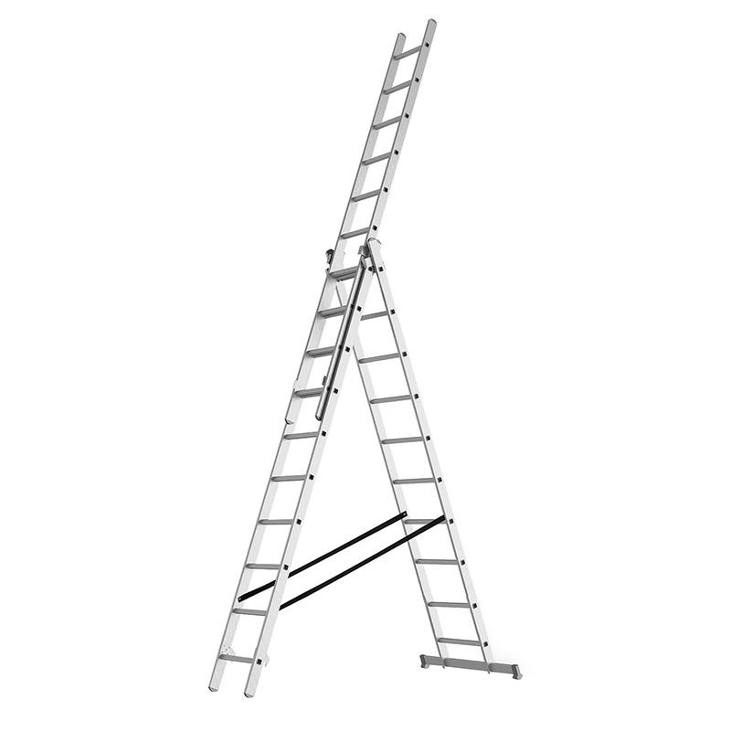 Трехсекционная промышленная лестница 3x8 REXANT