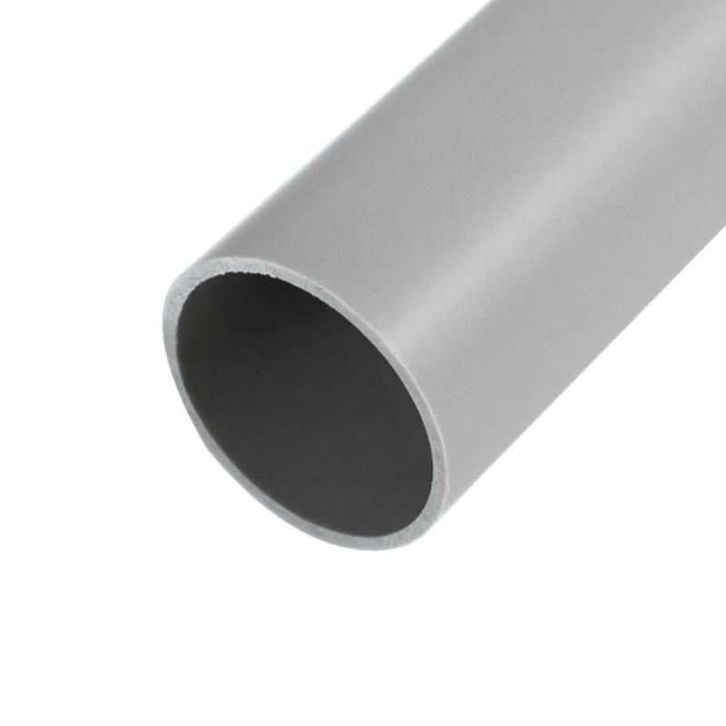 Труба гладкая жесткая ПВХ ø 20 мм, 3-метровая серая (150 м/уп.) REXANT