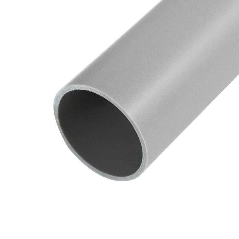 Труба гладкая жесткая ПВХ ø 50 мм, 3-метровая серая (30 м/уп.) REXANT