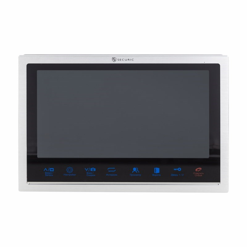 """Цветной монитор видеодомофона 10,1"""" формата AHD, с сенсорным управлением, детектором движения, функцией фото- и видеозаписи (модель AC-339)"""