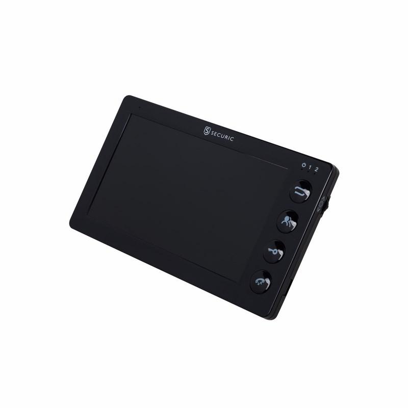 """Цветной монитор  видеодомофона 7"""" формата AHD, с детектором движения, функцией фото- и видеозаписи. Цвет черный (модель AC-335)"""