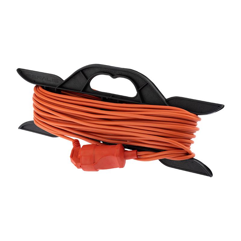 Удлинитель-шнур на рамке PROconnect ПВС 2х0.75, 20 м, б/з, 6 А, 1300 Вт, IP20, оранжевый (Сделано в России)
