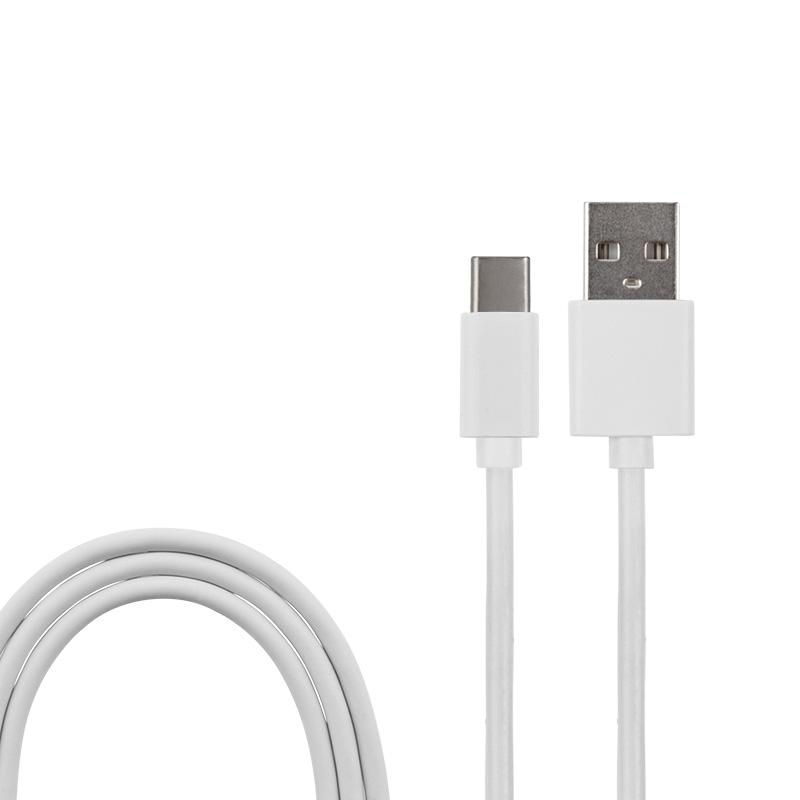 USB кабель USB Type-C, белый ПВХ, 1,5 метра (шнур спираль) REXANT
