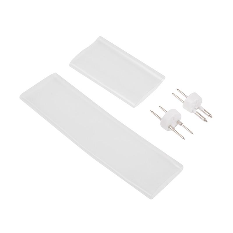 Установочный набор для дюралайта 2W ∅10мм (коннектор с иголкой, выпрямитель, заглушка), до 100м