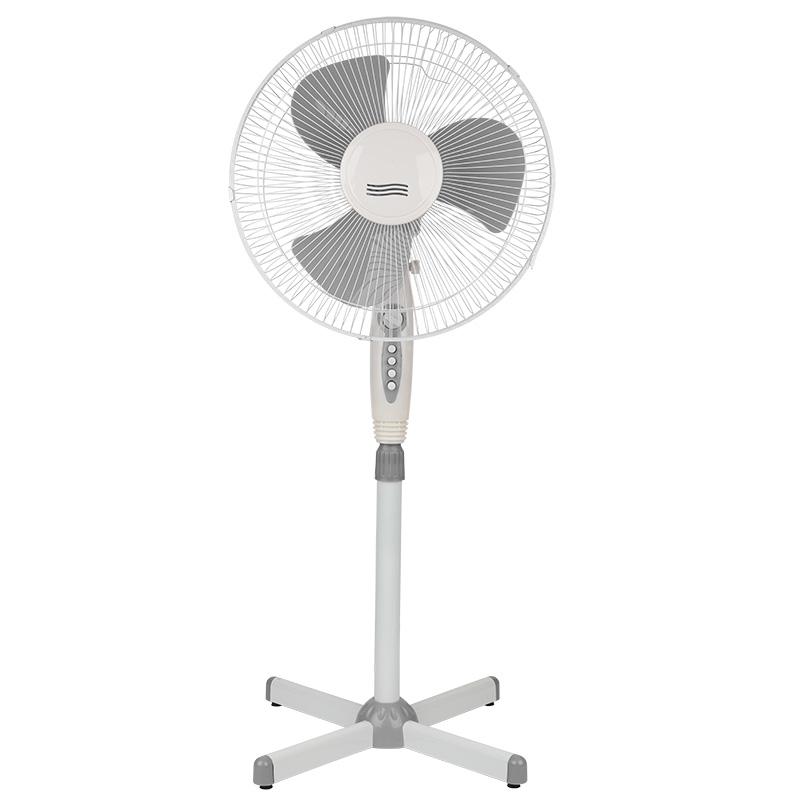 Вентилятор напольный DUX DX-1611T с таймером, 40 Вт, 220V, цвет белый/серый