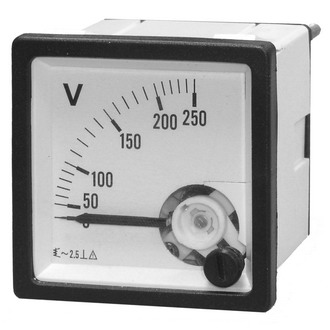 Вольтметр 250В   50гц  (48х48)