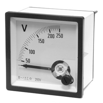 Вольтметр 250В   50гц  (72х72)