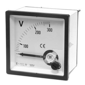 Вольтметр 300В   50гц  (72х72)