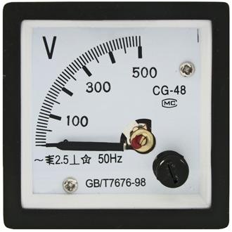 Вольтметр 500В   50гц  (48х48)