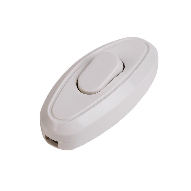 Выключатель-кнопка 250V 6А ON-OFF белый на электропровод (для настольной лампы / для бра) REXANT