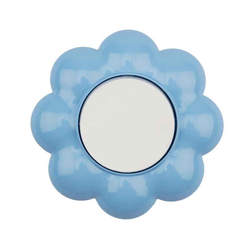 Выключатель одноклавишный KRANZ HAPPY Цветок скрытой установки, белый/голубой
