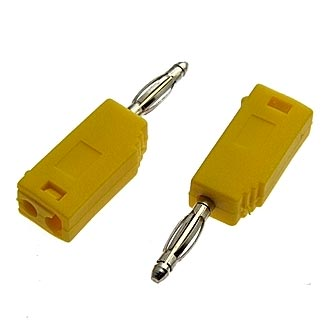Z027 2mm Stackable Plug YELLOW