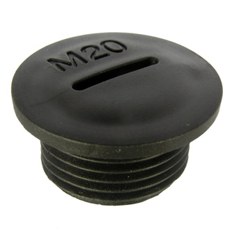 Заглушка MG-20 Черный пластик