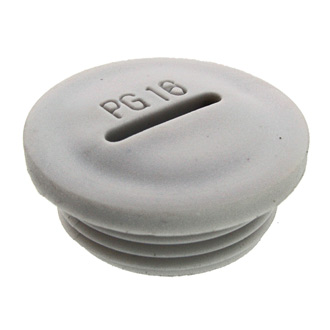 Заглушка PG16 Серый пластик