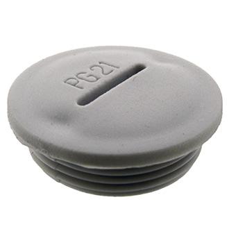 Заглушка PG21 Серый пластик