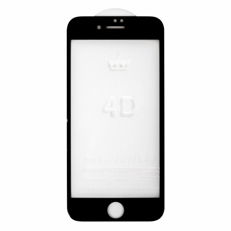 Защитное стекло 4D для iPhone 7 черное