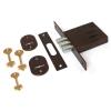 Замок врезной Биф 0010, сувальдный ключ, 3 ригеля, коричневый