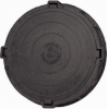Люк полимерно-композитный легкий d-760 мм 1,5 т черный