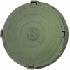 Люк полимерно-композитный легкий d-760 мм 1,5 т зеленый
