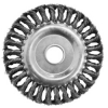 Щетка-крацовка дисковая витая для УШМ 175 мм BIBER
