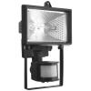 Прожектор галогенный ИО 150 Вт 2100 лм 2900 K IP44 черный с датчиком движ. Navigator