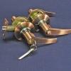 Ручка-защелка 808 ЕТ-АС (ст. медь) ключ