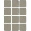 Подкладка (пункт) для мебели самоклеющаяся 25х25 мм серая (12 шт) Стройкомплектация
