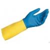 Перчатки резиновые двойной цвет размер L