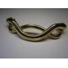 Скоба-плетенка М-7142 СР/GP-64mm хром/золото