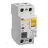 Выключатель дифференциального тока (УЗО) 2п 16А 10мА тип AC ВД1-63 IEK MDV10-2-016-010