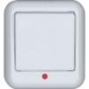 Выключатель 1-кл. ОП Прима 6А IP20 250В с монтаж. пластиной бел. (розн. упак.) SchE A16-051M-BI