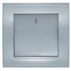 Выключатель 1-кл. скрытая проводка/СП Бриллиант с подсвет.серебро UNIVersal 7949643