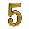 "Цифра дверная ""Trodos"" ""5"", золото"