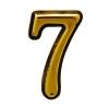 "Цифра дверная ""Trodos"" ""7"", золото"