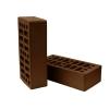 Кирпич керамический лицевой пустотелый М150 шоколад Керма