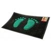 Коврик Spongy Лапки 45х75 см, чёрно-зелёный, SUNSTEP