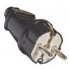 Вилка кабельная черная (16 А, с з/к) TDM ЕLECTRIC