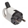 Вилка кабельная с ушком белая (16 А, с з/к) TDM ЕLECTRIC
