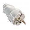 Вилка кабельная белая (16 А, с з/к) TDM ЕLECTRIC