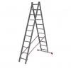 Лестница 2-х секционная Новая Высота NV100 (2х11 ступеней)