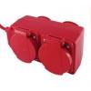 Удлинитель силовой TDM ЕLECTRIC Уз16-02/02 красный (4х20 м, ПВС 3х1, с крышкой, с/з)