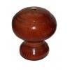 Ручка-кнопка деревянная классика, лак тёмная с малым глазком