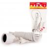 Удлинитель LUX У-161-03 белый (1х3 м, ПВС 3х0.75, с/з)