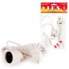 Удлинитель LUX У-161-05 белый (1х5 м, ПВС 3х0.75, с/з)