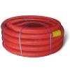 Труба защитная двустенная ПНД/ПВД 110 мм (1 м) красная