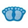 Коврик для ванной SHAHINTEX MICROFIBER ЛАПКИ соединенные 40*60 голубой 7368